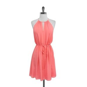 Rebecca Taylor Melon Silk Cami Dress
